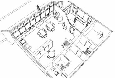 restaurant drawing interior inside easy sketches drawings office getdrawings interesting