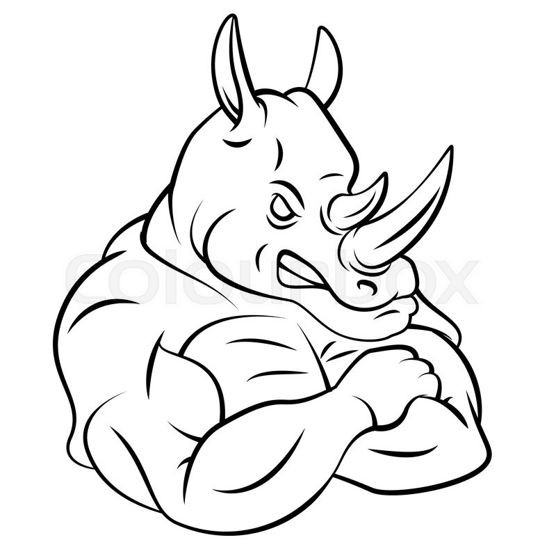 Free Coloring Pages Of Rhino Beetle