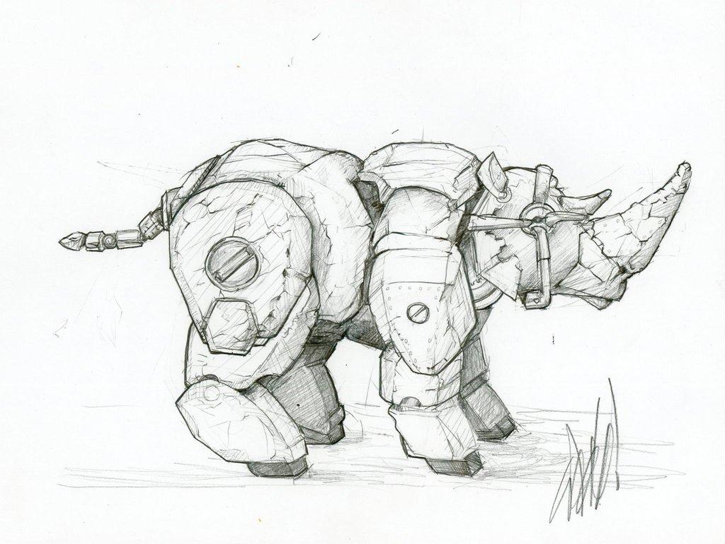 Rhino Drawing At Getdrawings