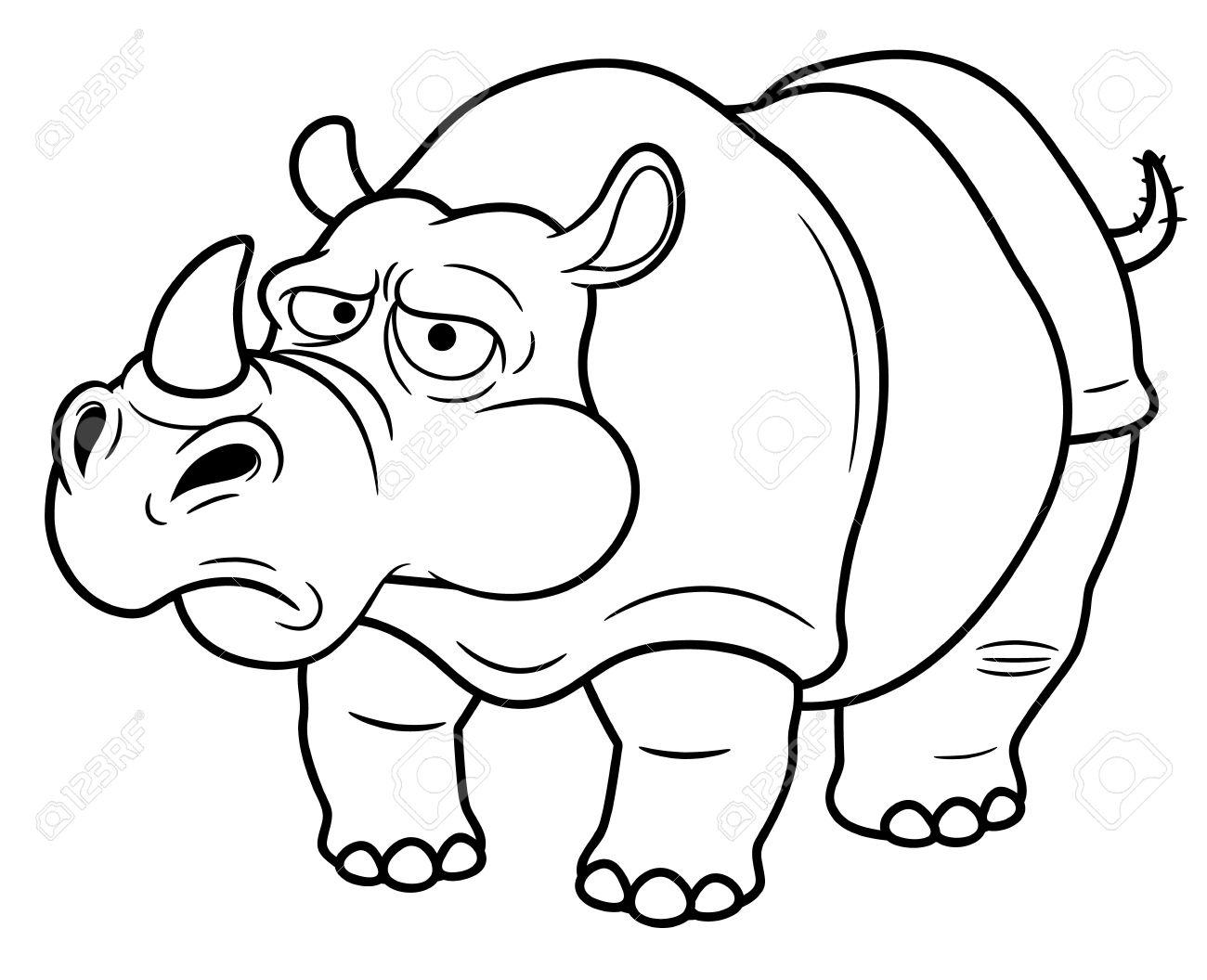 Rhino Outline Drawing At Getdrawings
