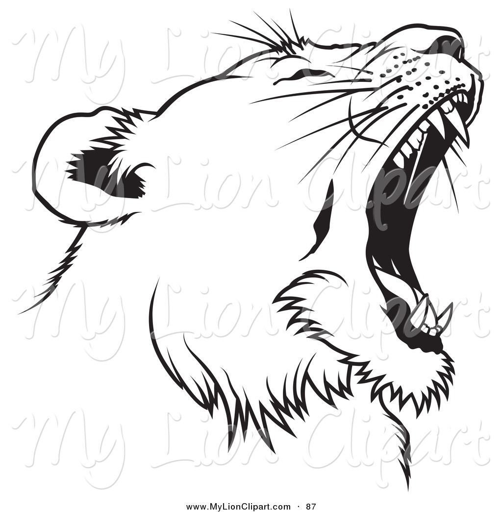 hight resolution of 1024x1044 roaring lion clipart black and white letters format