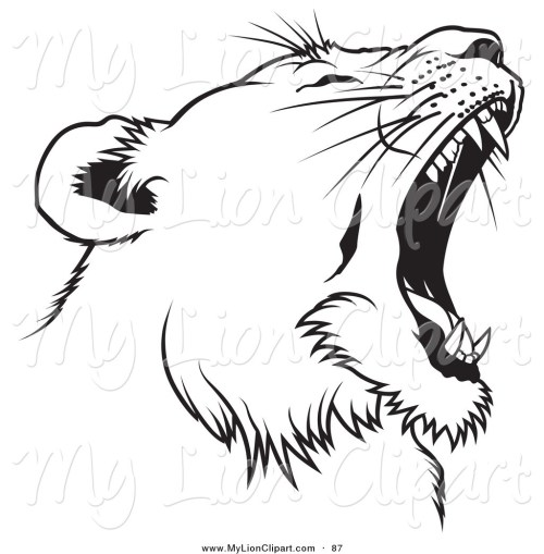 small resolution of 1024x1044 roaring lion clipart black and white letters format