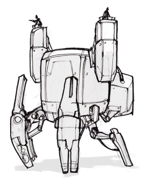 robot drawing simple clipartmag mech getdrawings