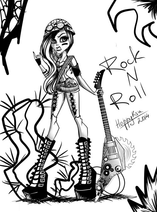 small resolution of 1024x1385 rock n roll by happyksu