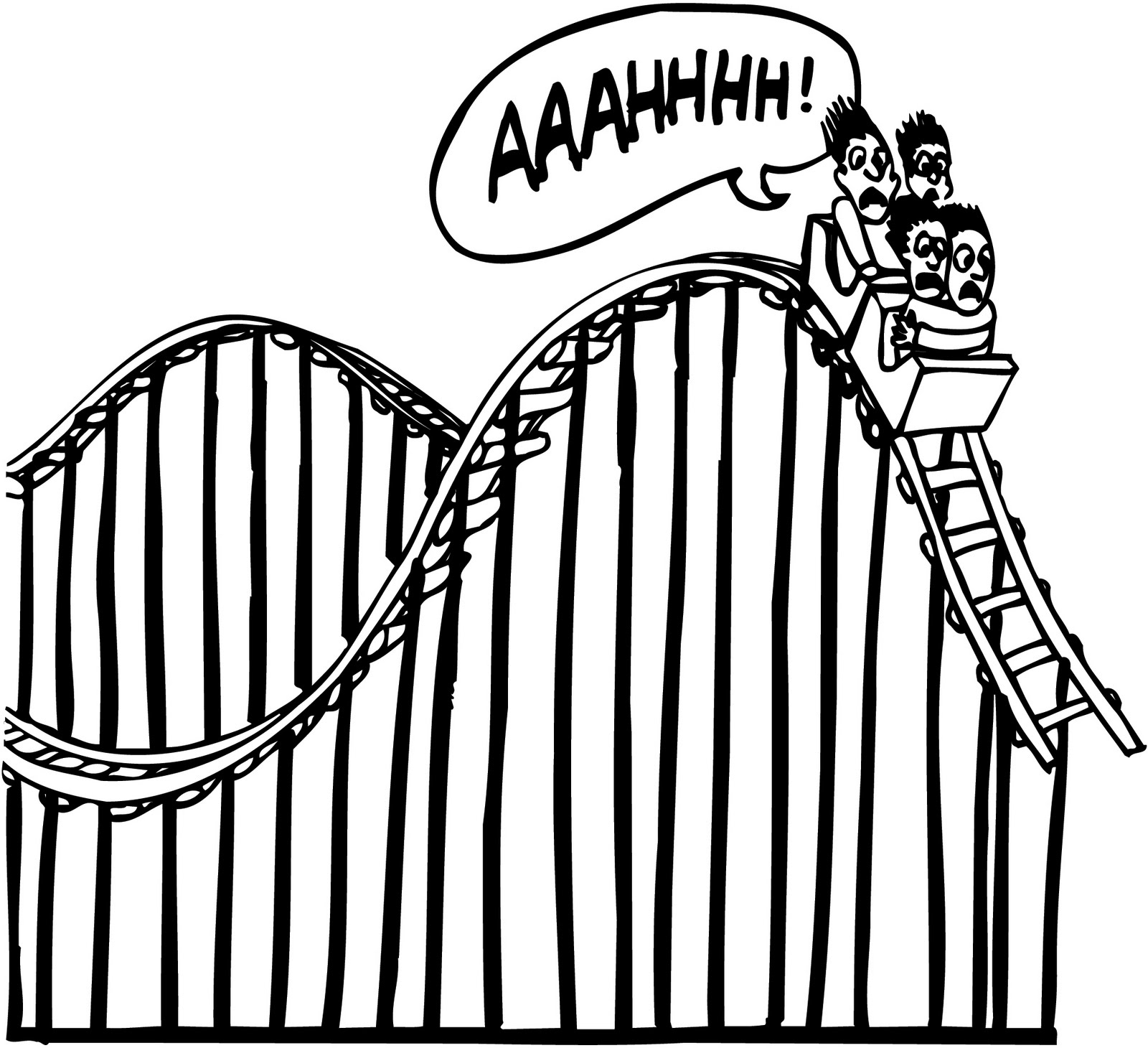 Roller Coaster Drawing At Getdrawings