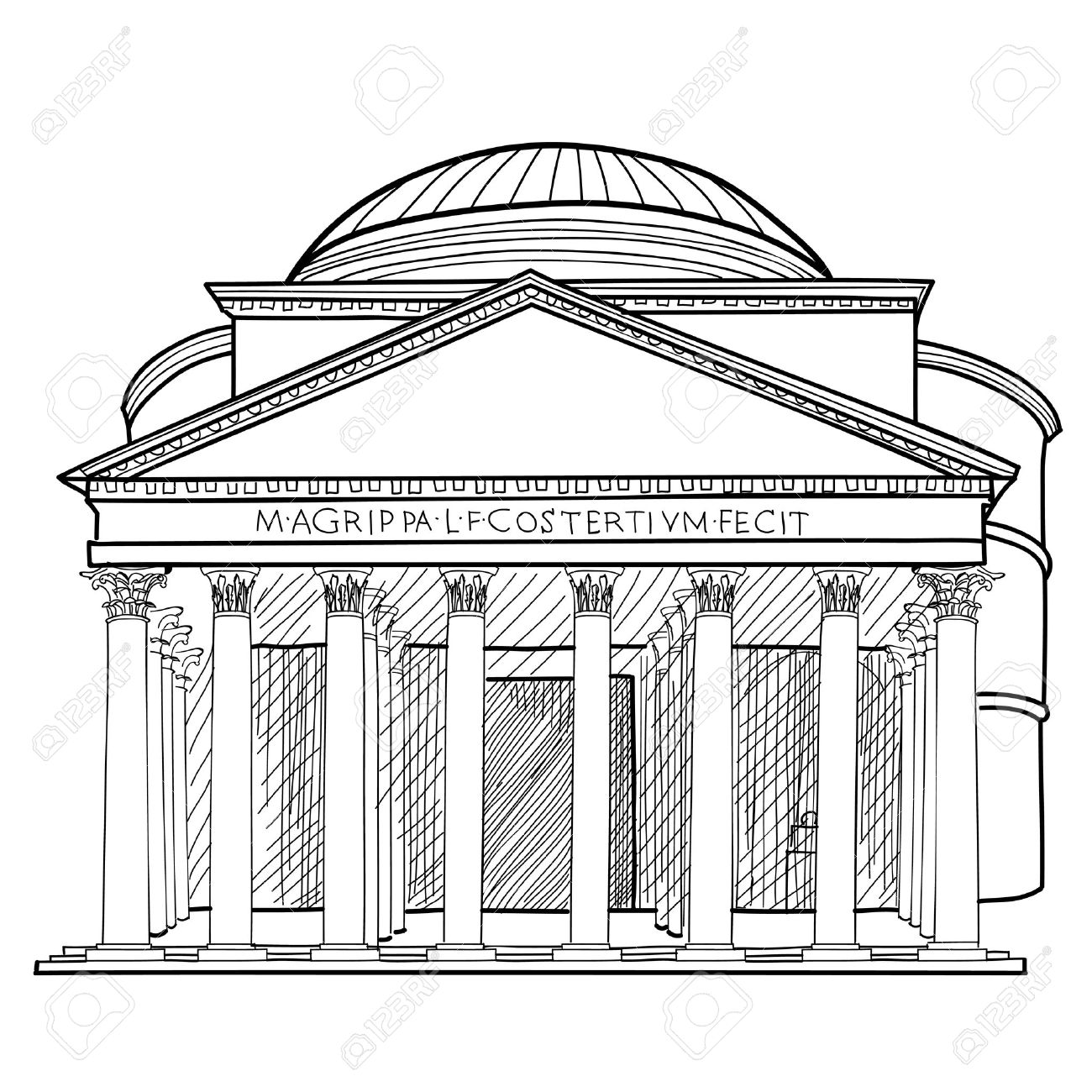 Roman Colosseum Drawing At Getdrawings