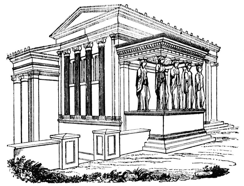 Roman Pillars Drawing At Getdrawings