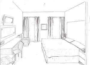 drawing line easy drawings background cool cartoon bed getdrawings