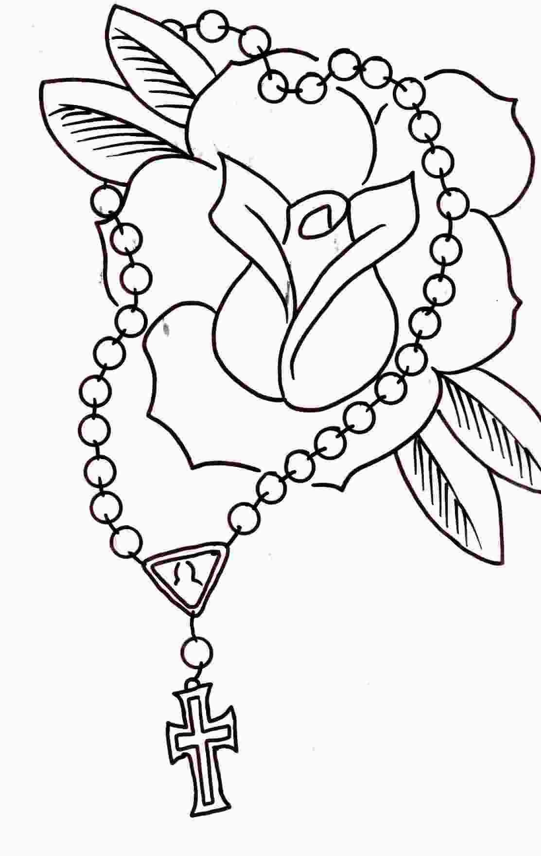 Rosaries Drawing At Getdrawings