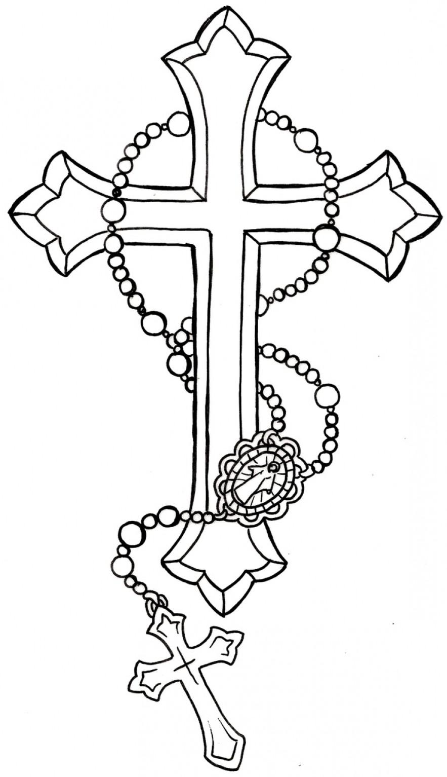 Rosary Tattoos Around Neck
