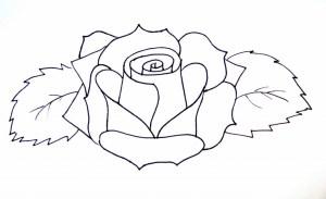 rose drawing simple easy flowers flower drawings mexican step skellies coloring roses draw drawn muertos dia los getdrawings pages moody