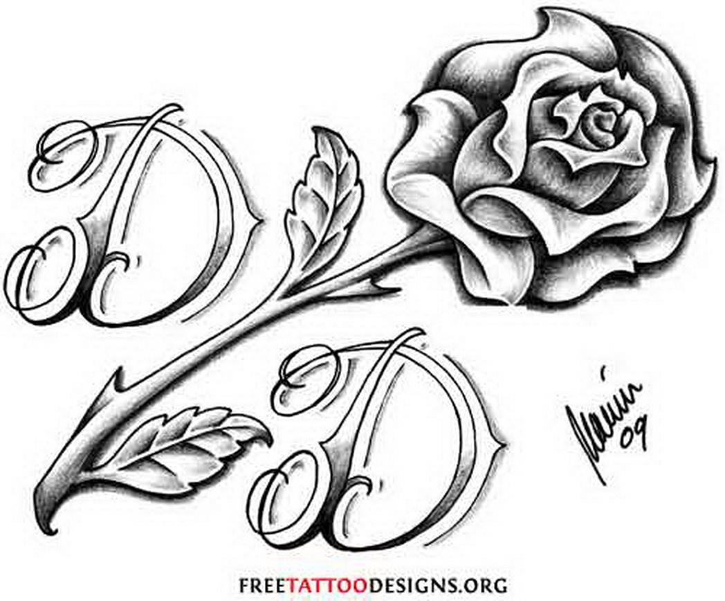 Rose Stem Outline Drawing