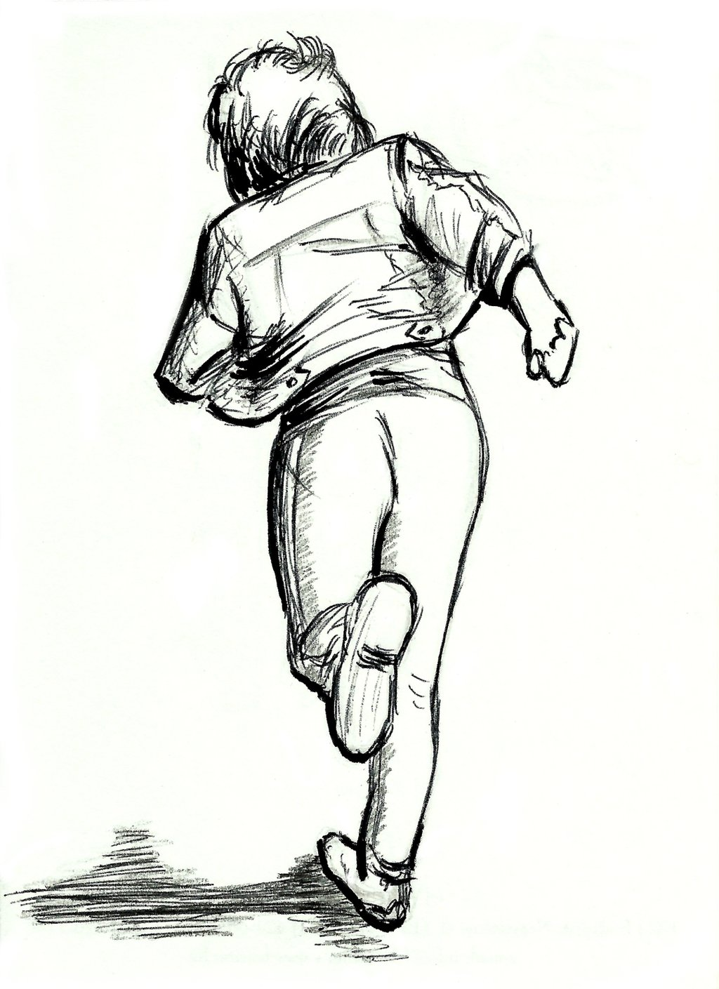 Kids Running Silhouette At Getdrawings