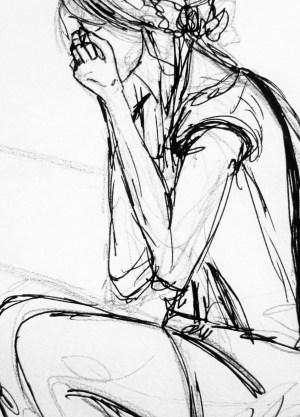 sad drawing easy pencil sketches sketch couple getdrawings