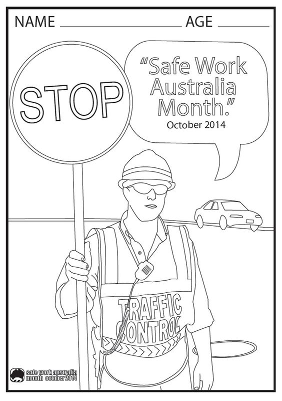 Safety Contest For Work Coloring Pages