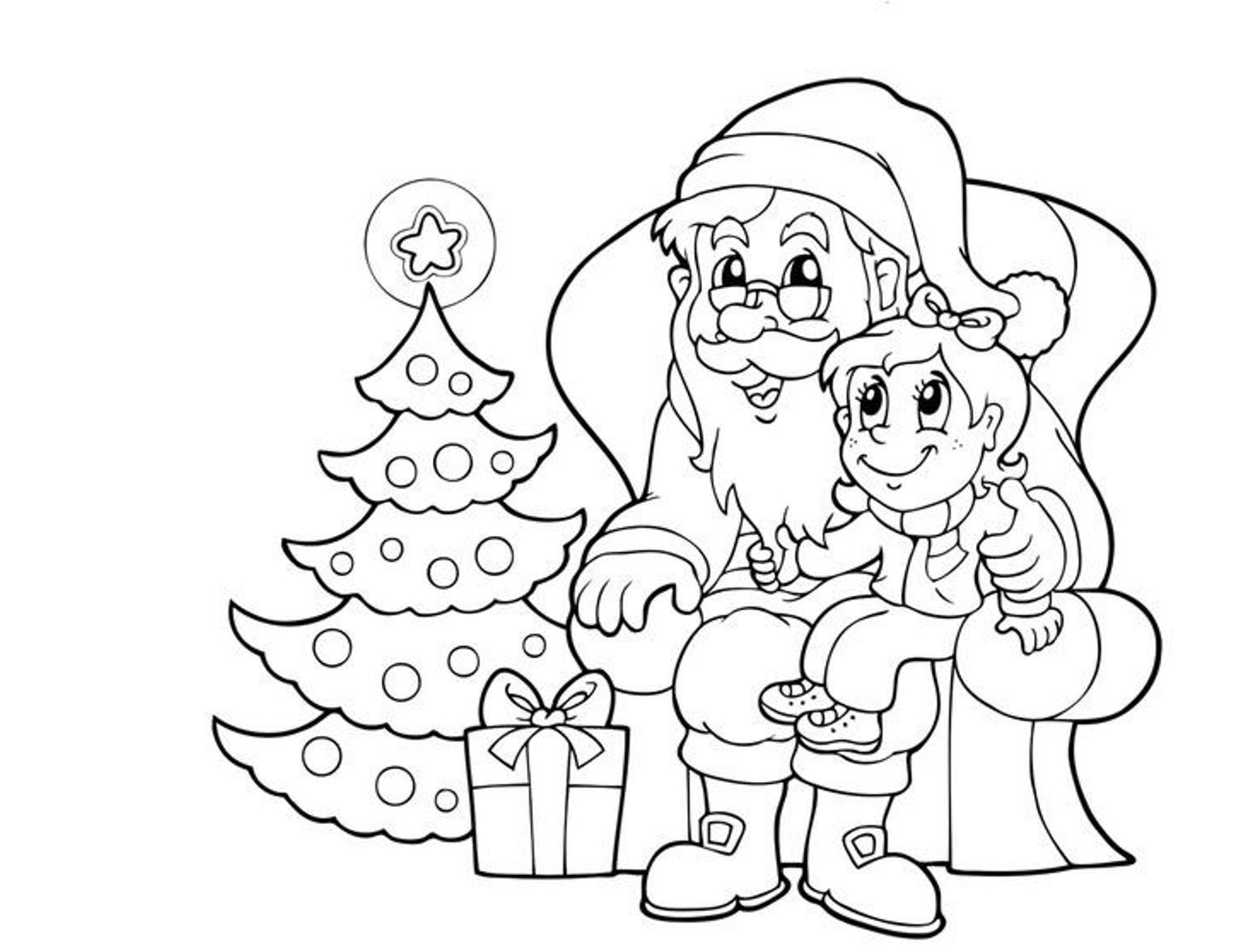 Santa Claus Drawing For Kids At Getdrawings