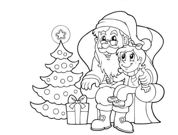 Santa Claus Drawing Kids Free Personal