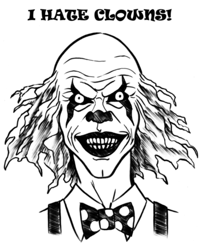 Clown Faces Drawing At Getdrawings Com
