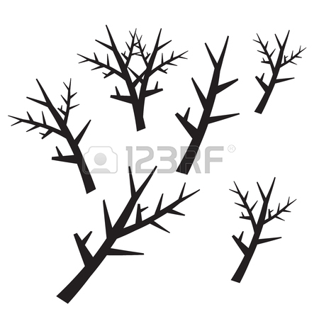 scary trees drawing at