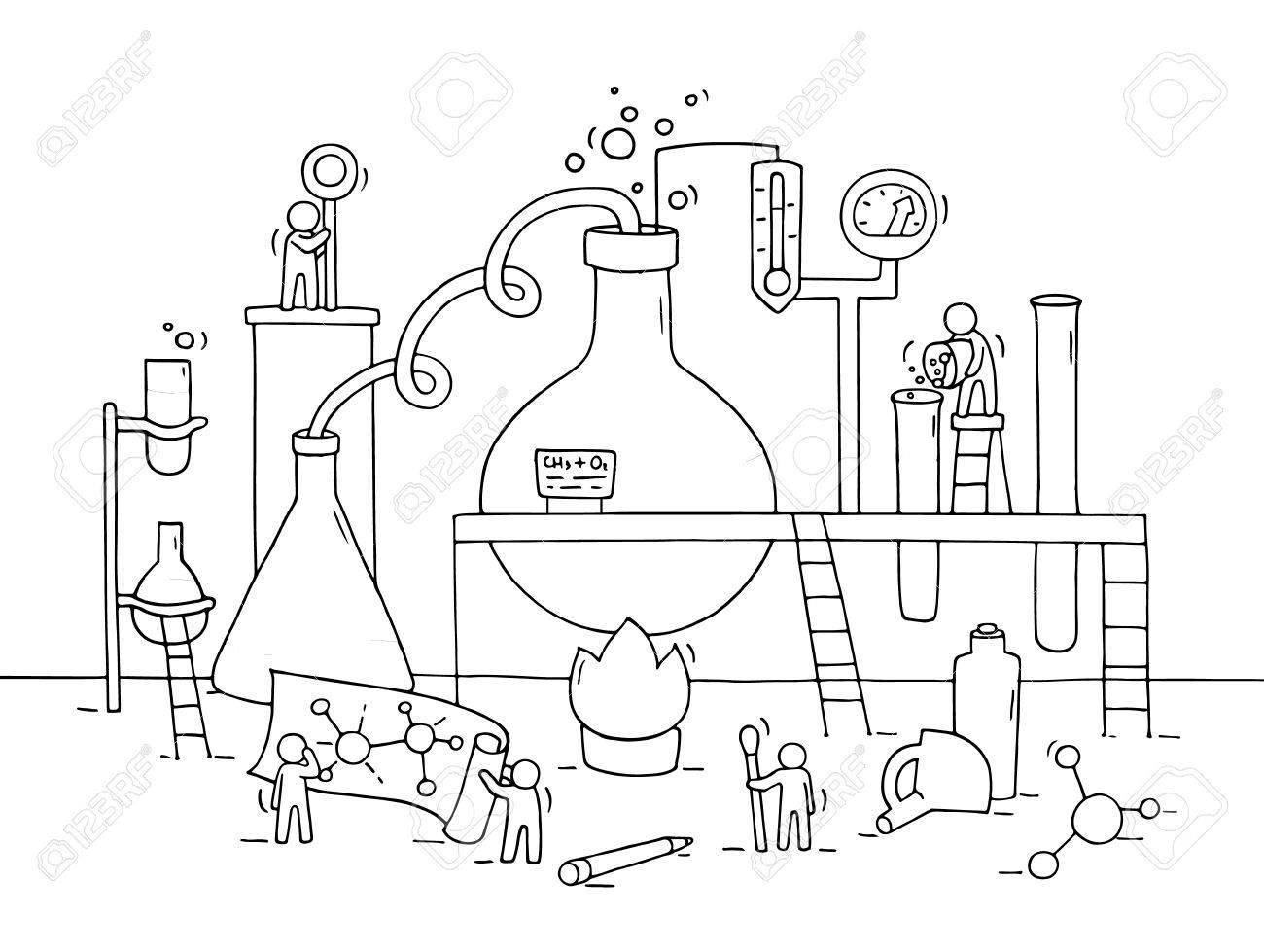 Science Beaker Drawing At Getdrawings