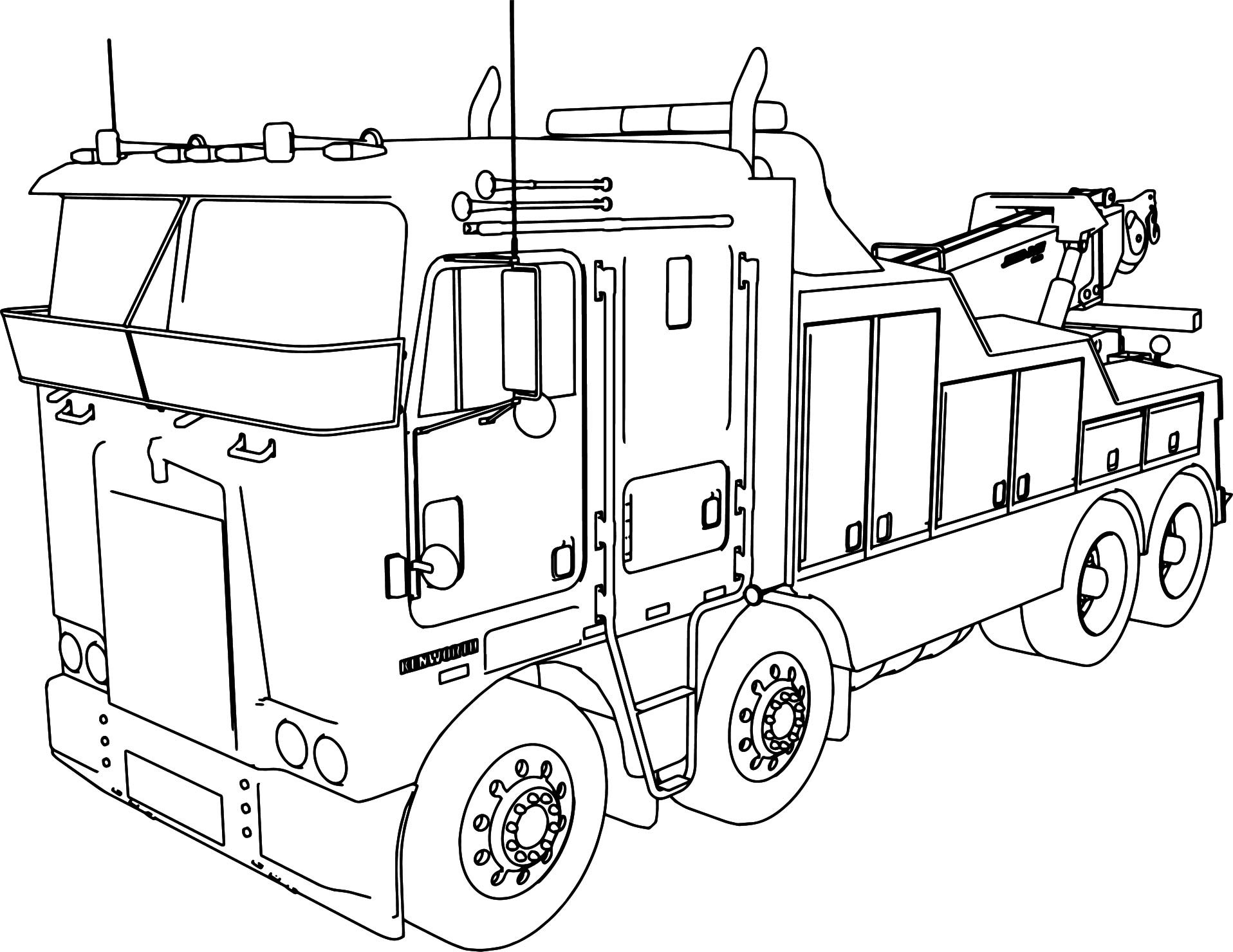 Semi Truck Line Drawing At Getdrawings