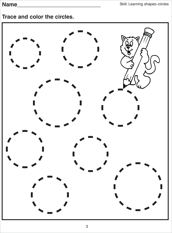 Free Geometric Shapes Worksheet For Kindergarten