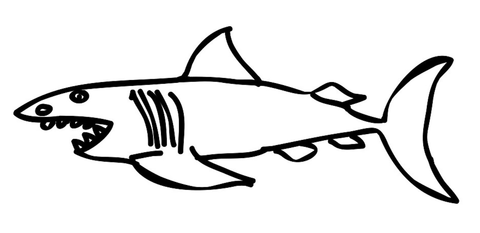 hight resolution of 1600x777 shark drawing template clipart best lemon shark coloring page