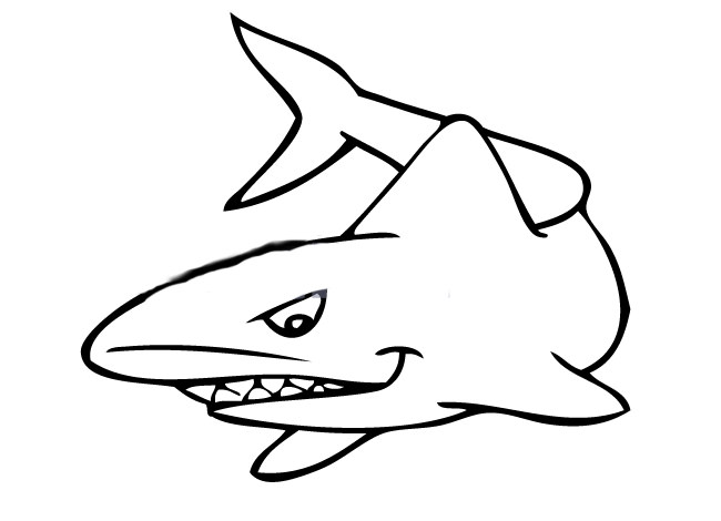 small hammerhead shark cutout