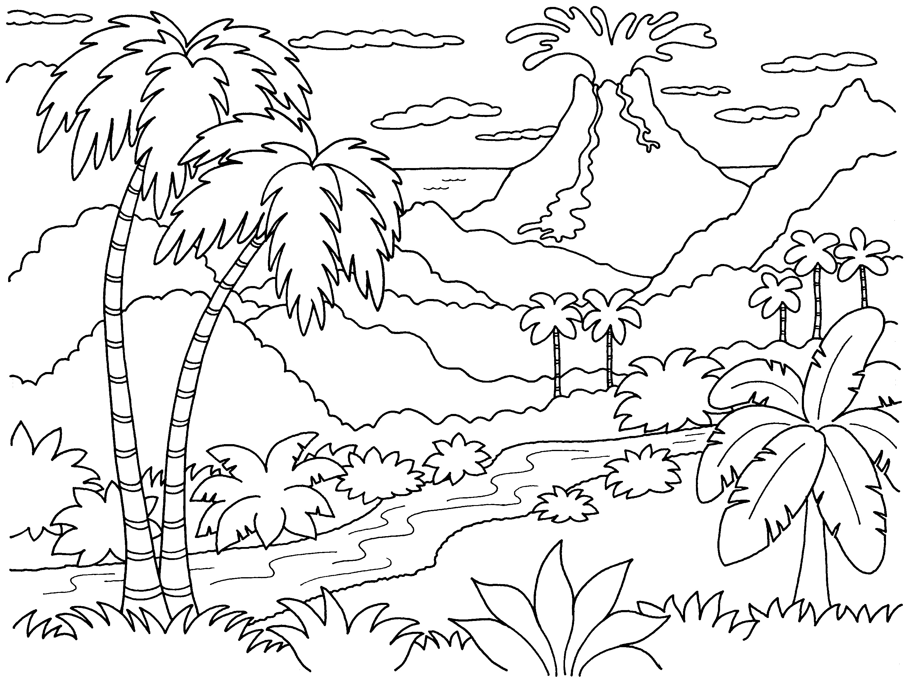 The Best Free Volcano Drawing Images Download From 401