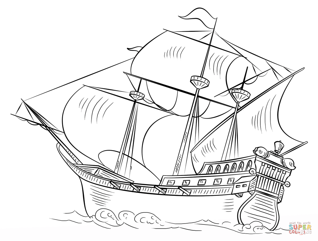 Pirate Easy Ship Draw Steps