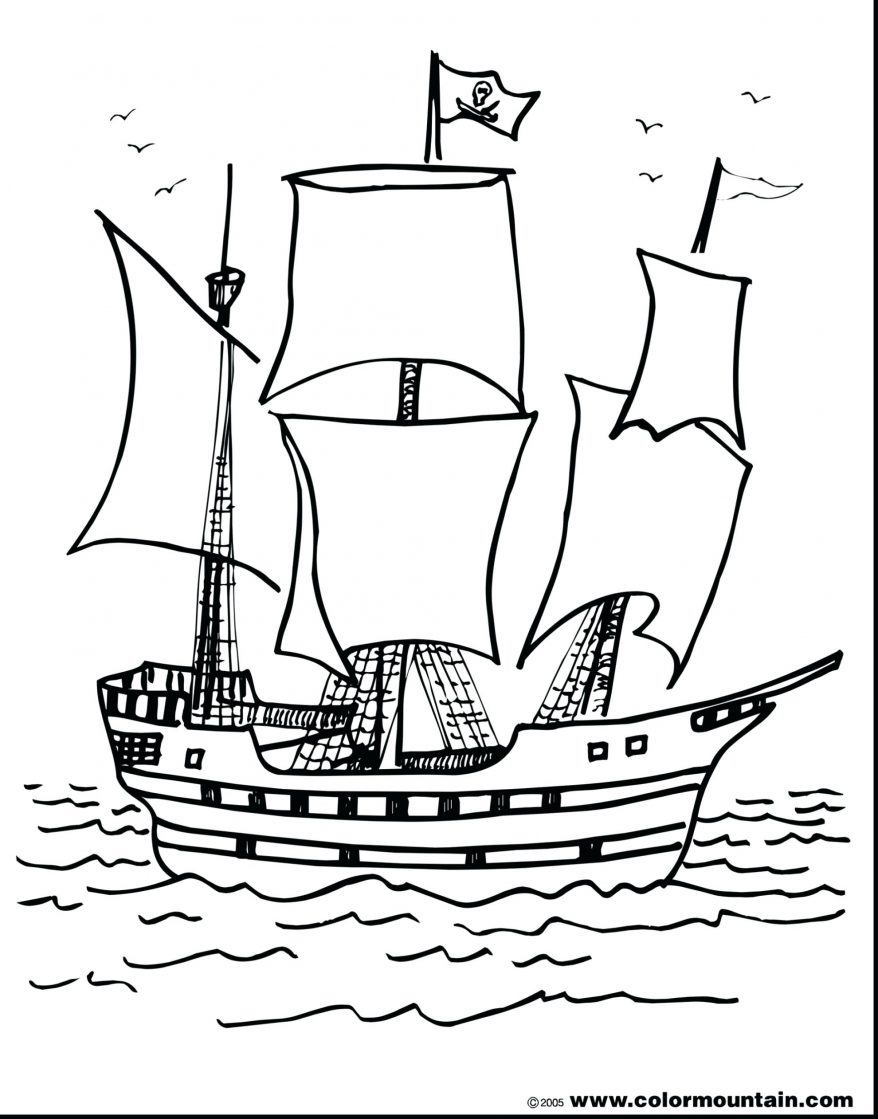Ship drawing step by step