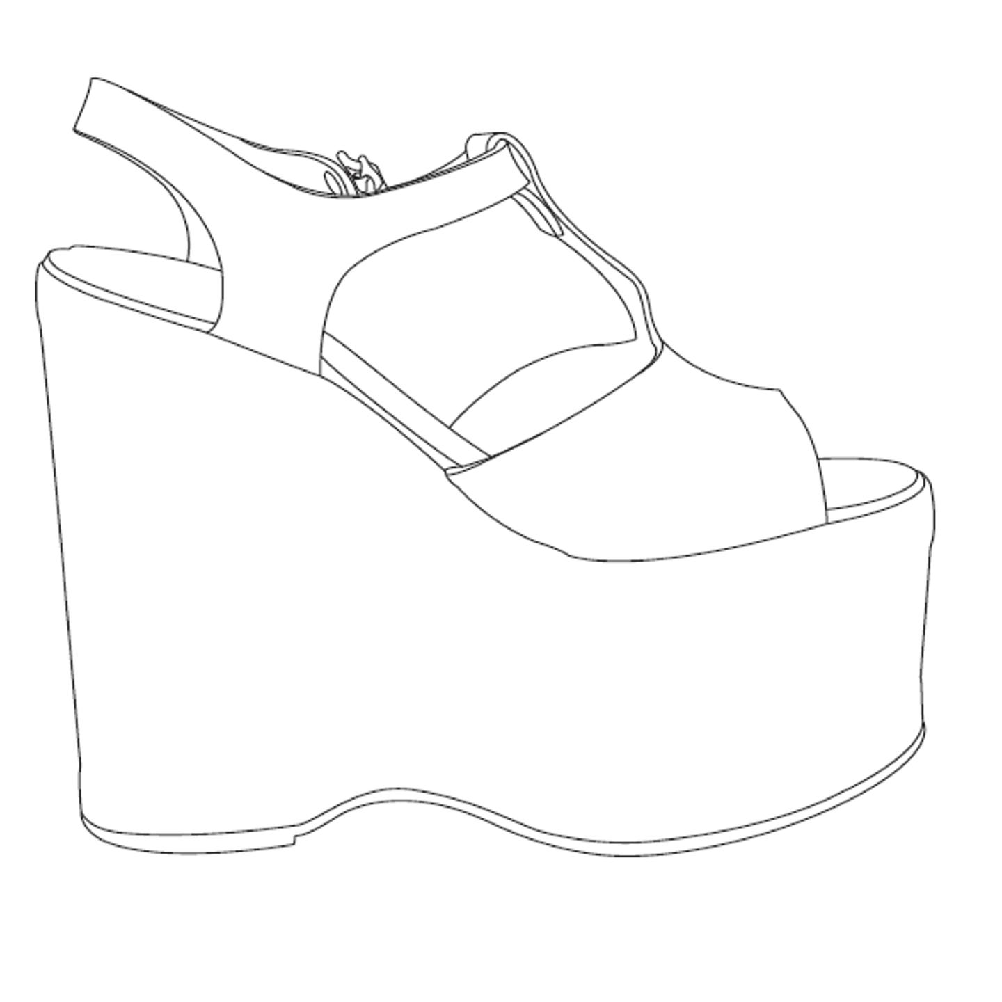 Shoe Drawing Template At Getdrawings