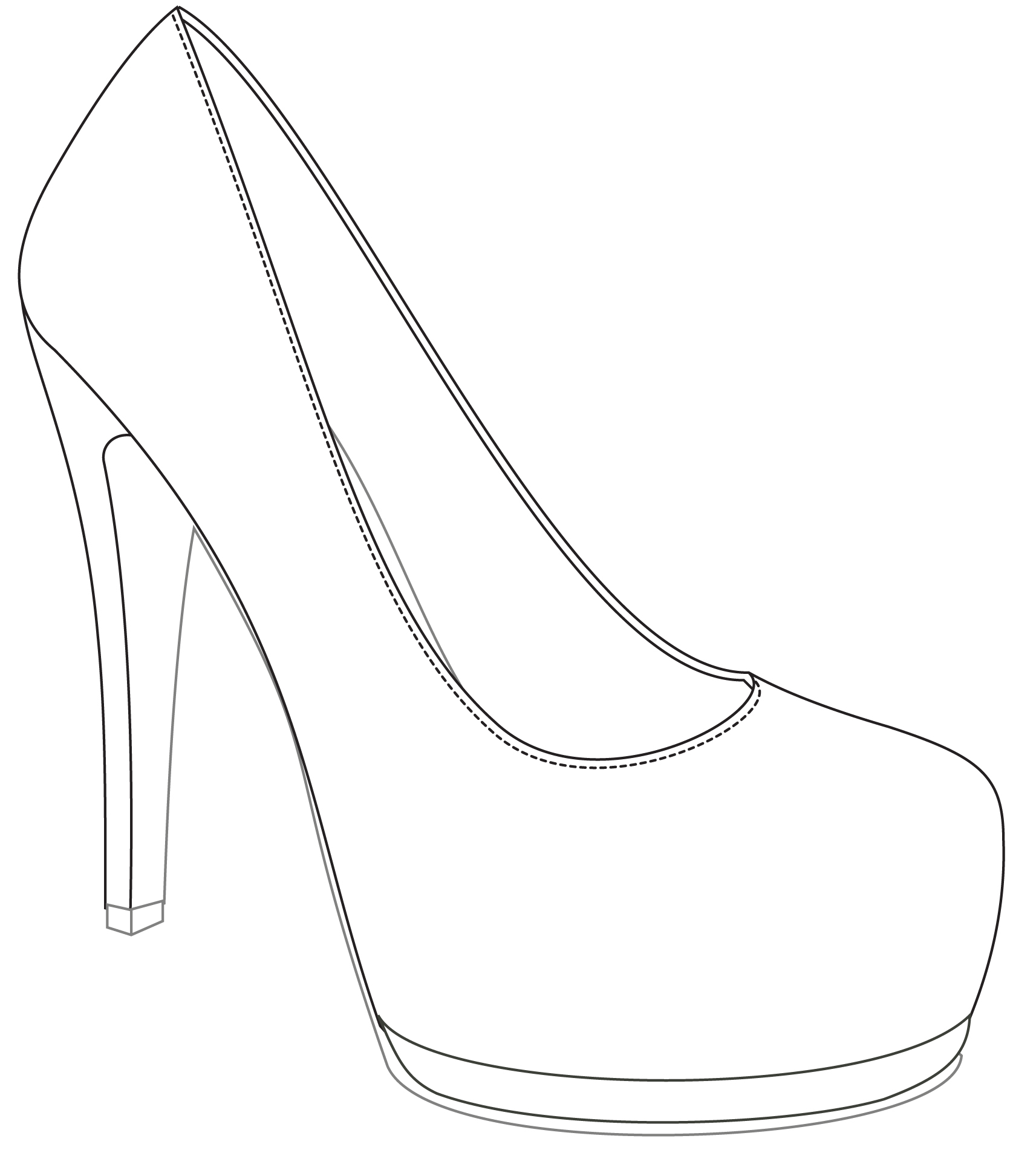 Shoe Outline Drawing At Getdrawings