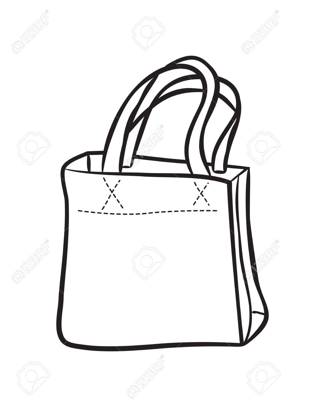 Shopping Bag Drawing At Getdrawings