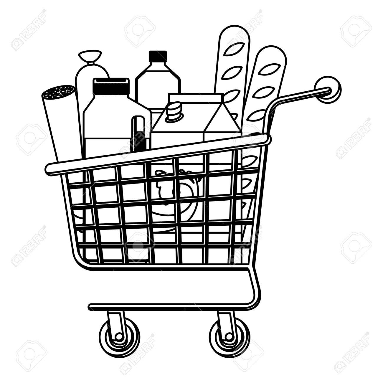 Shopping Cart Drawing At Getdrawings