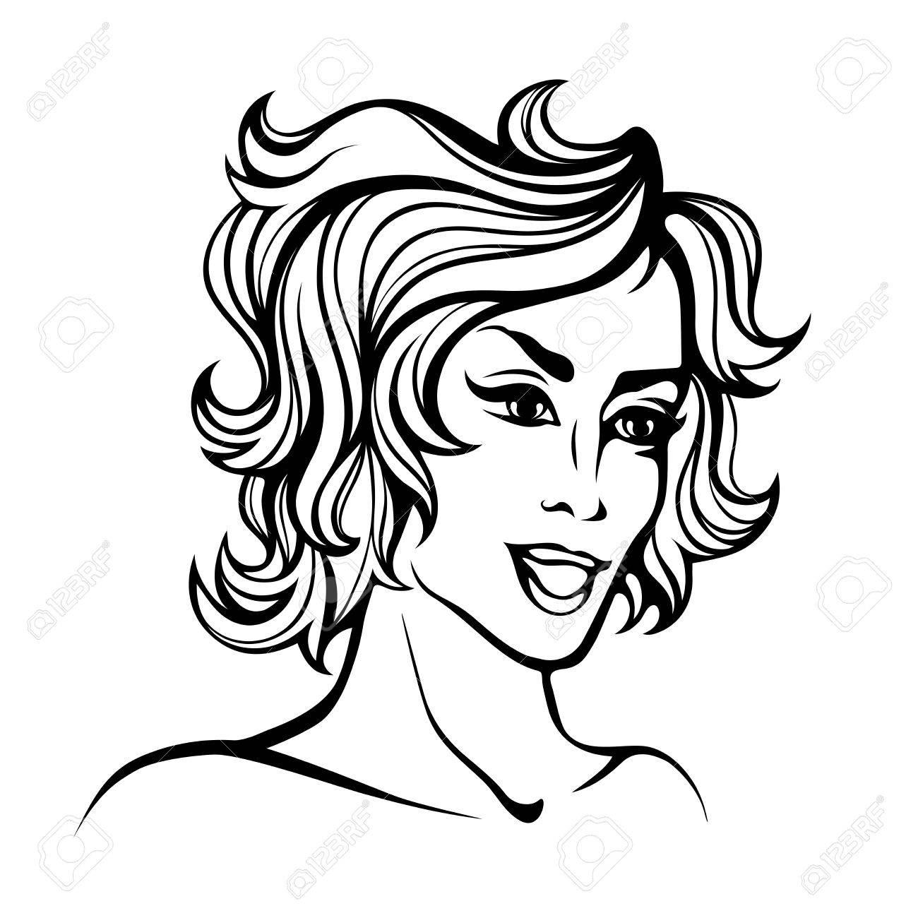 Short Curly Hair Drawing At Getdrawings