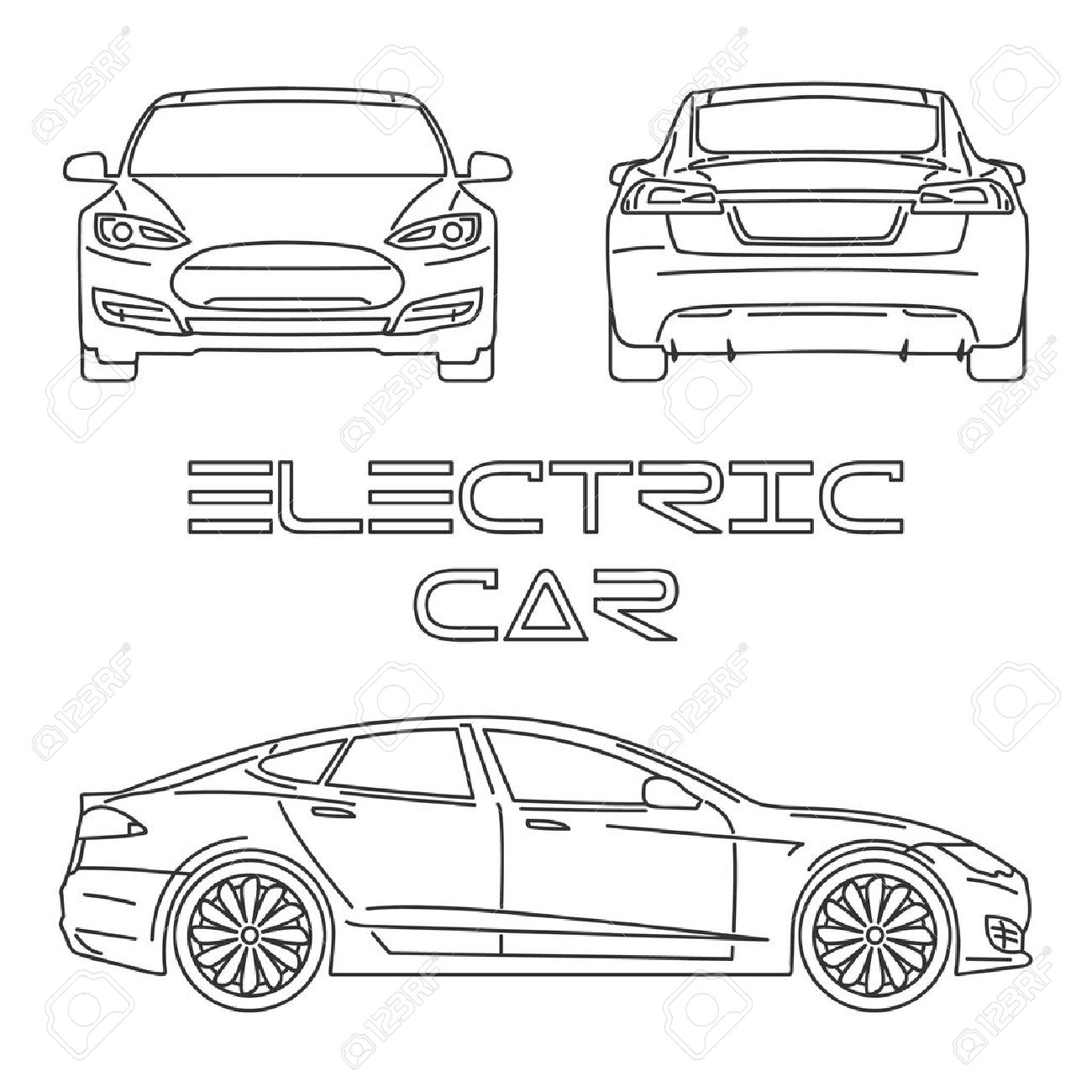 diagram of back of car