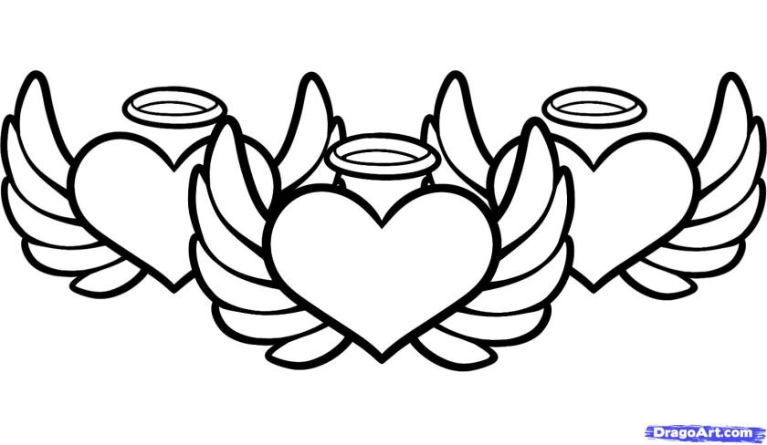 simple angel wings drawing at getdrawings  free download