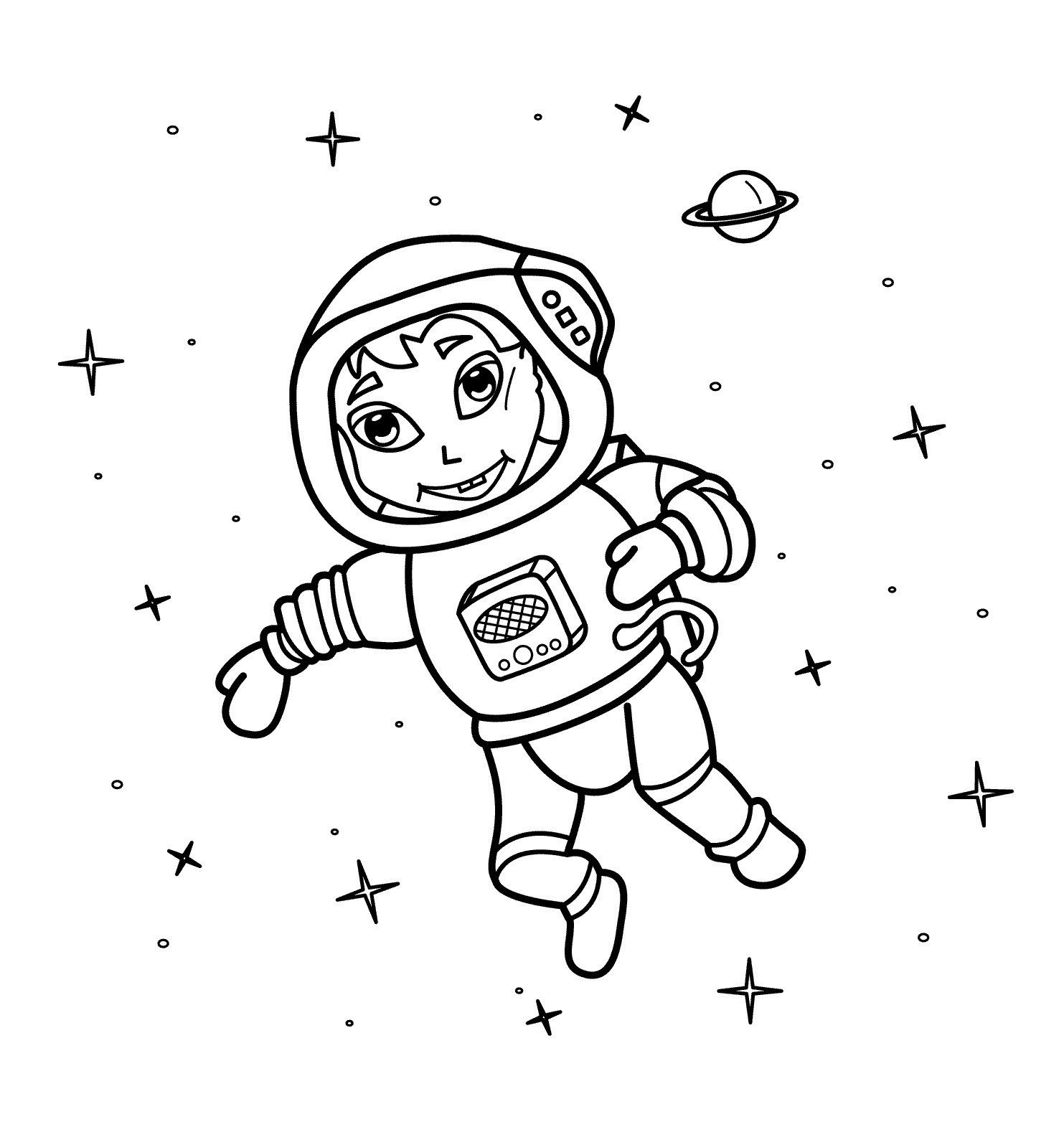 Simple Astronaut Drawing At Getdrawings