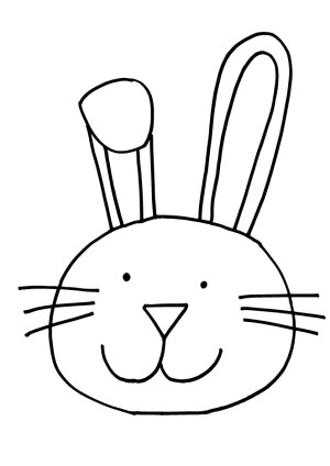 bunny easy drawing easter rabbit clipart simple face drawings draw getdrawings clipartmag paintingvalley