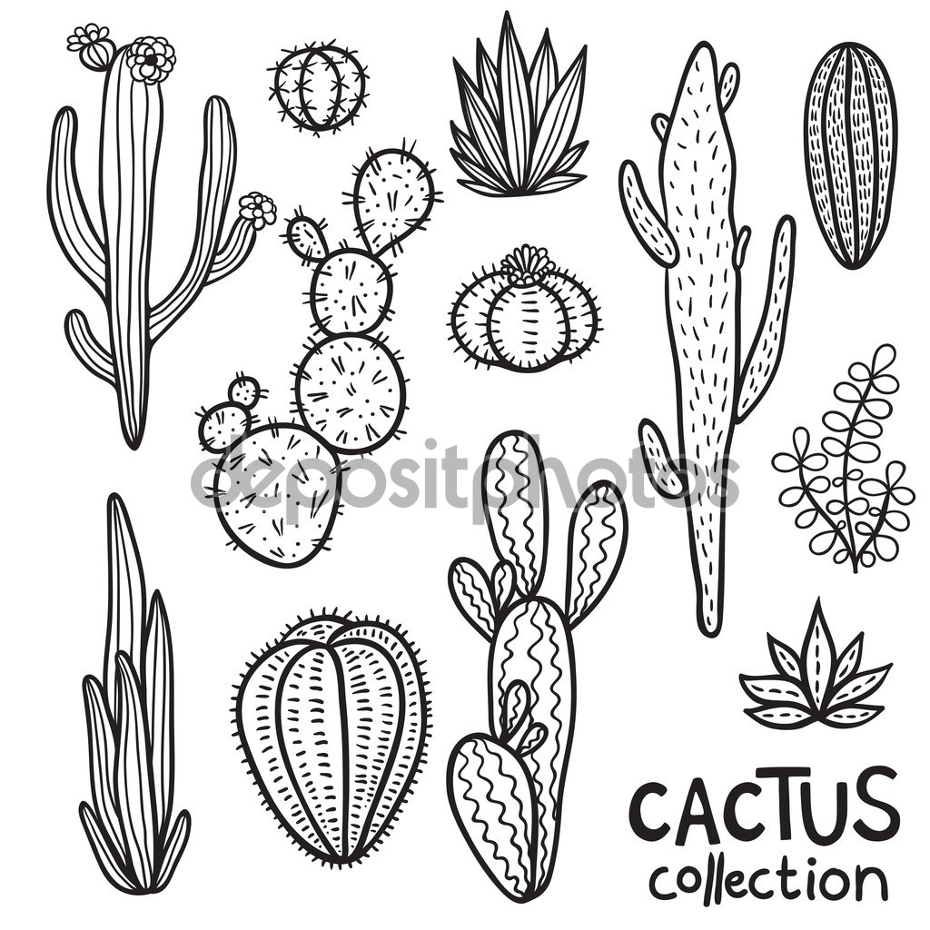 Simple Cactus Drawing At Getdrawings