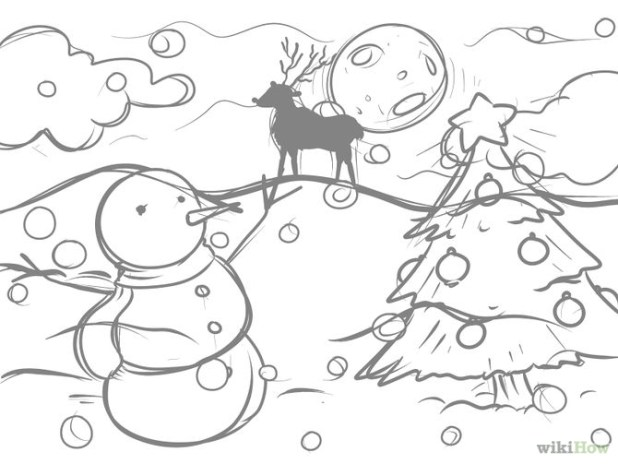 simple christmas drawing at getdrawings com free for personal use - Simple Christmas Drawings