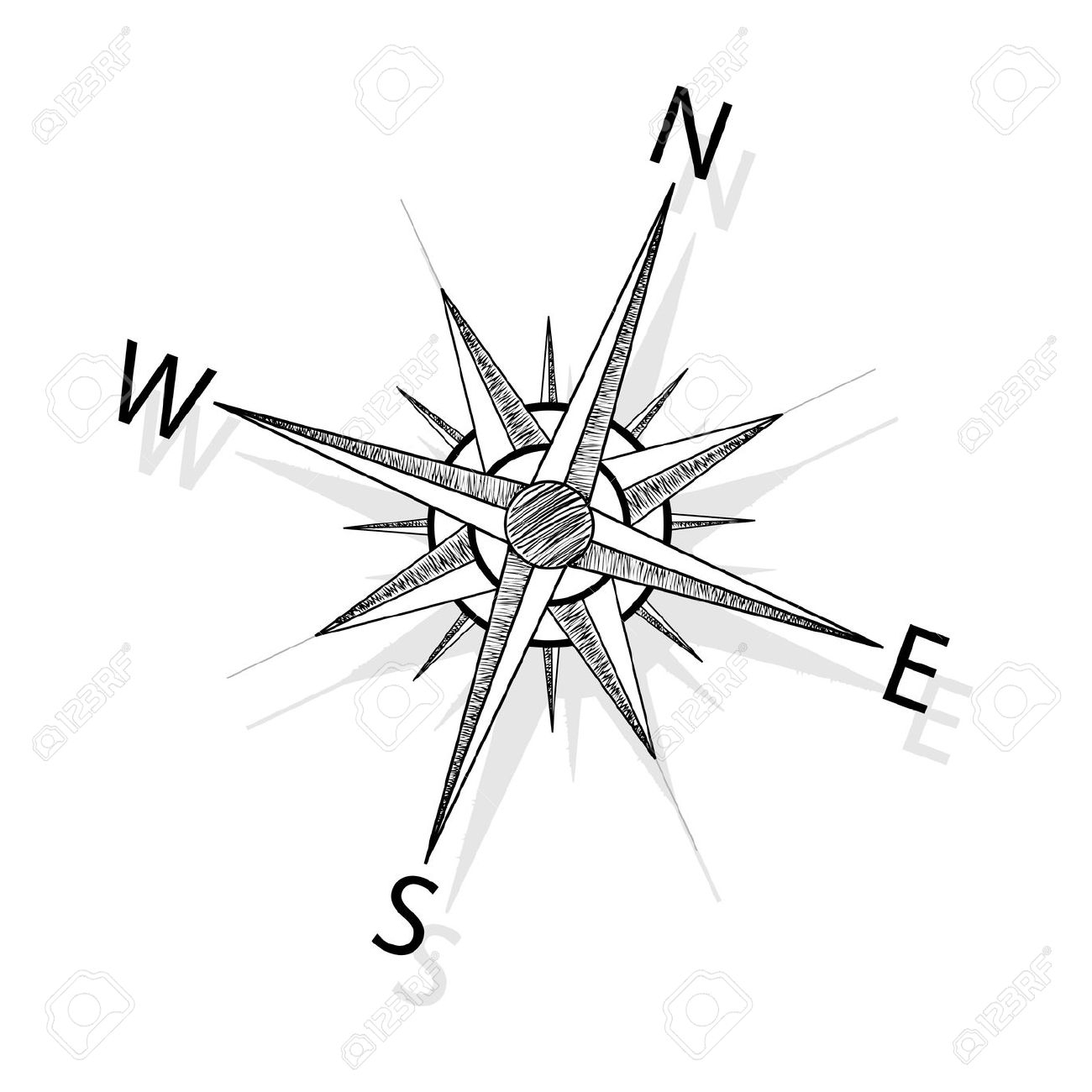 Simple Compass Drawing At Getdrawings
