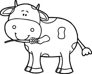 cow drawing simple getdrawings