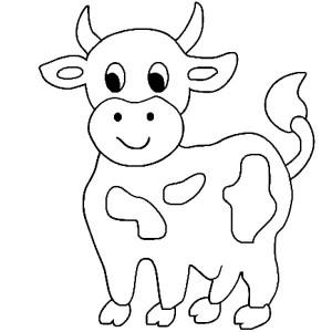 Simple Drawings Cow