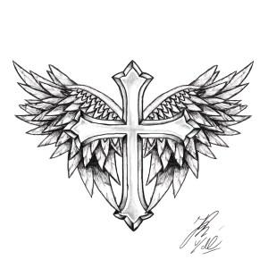 cross tattoo simple designs drawing wings line tattoos crosses religious tatuaggio tatuagem easy tatuaggi masculina cruz getdrawings tattos tatuagens di