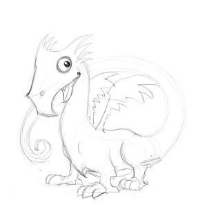 dragon simple drawing drawings getdrawings