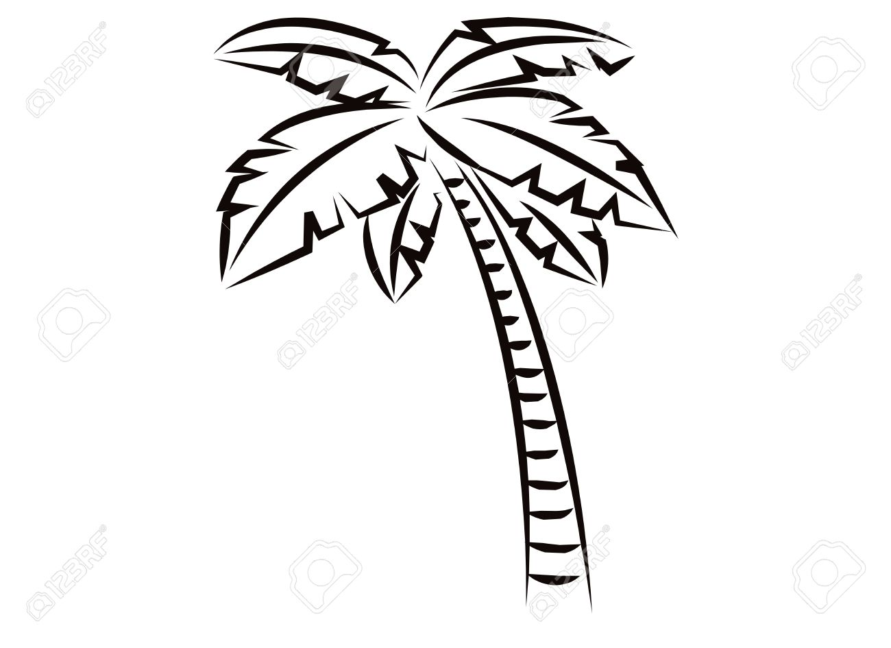 Simple Drawing Of A Palm Tree At Getdrawings