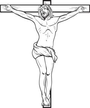 jesus simple pencil drawing coloring pages template