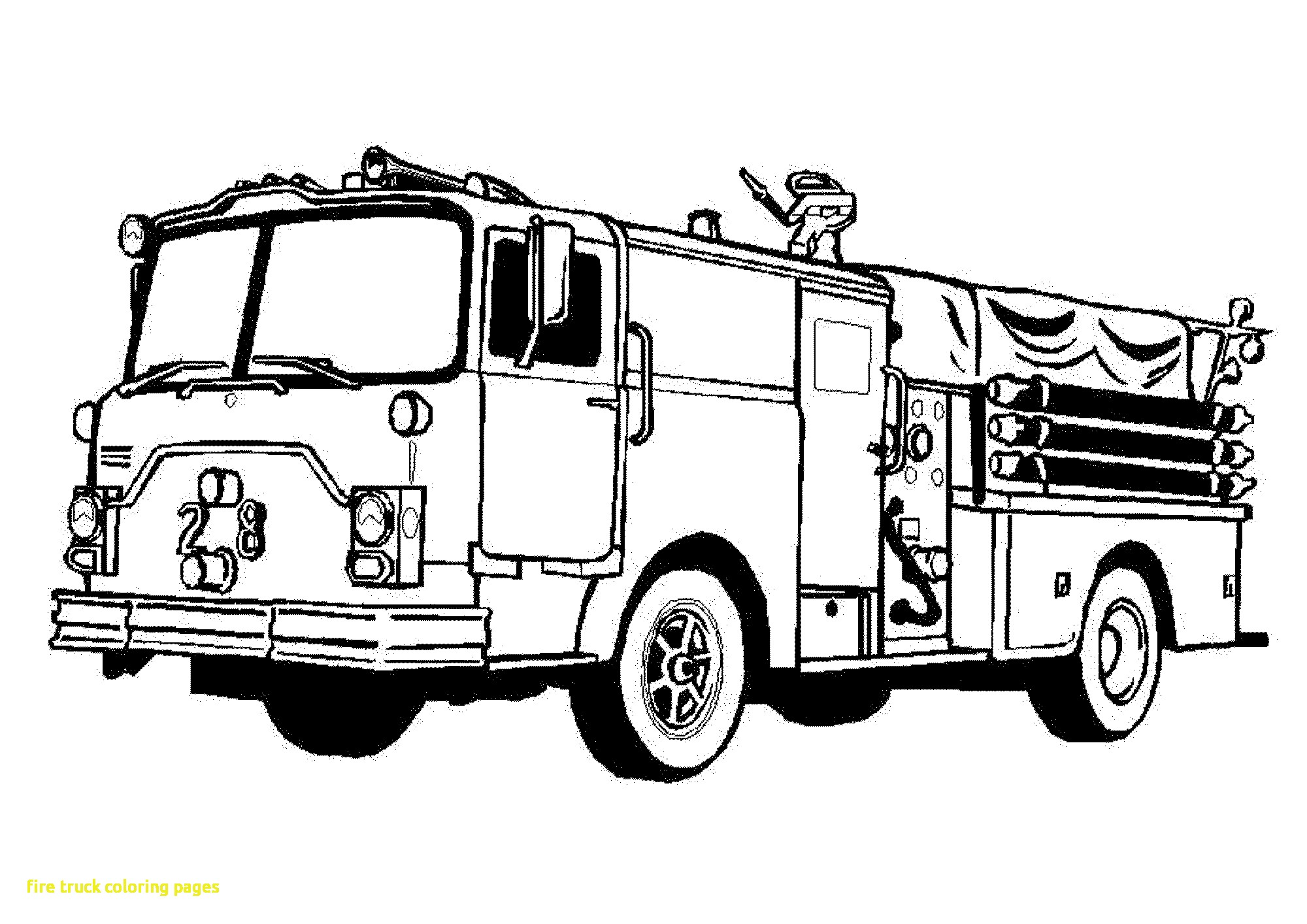 Simple Fire Truck Drawing At Getdrawings
